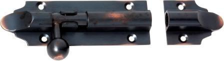 Tradco 'BARREL BOLT' Antique Copper 1411 100mm x 32mm