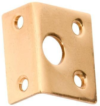 Tradco 'RIGHT ANGLE KEEPER' Polished Brass 1421