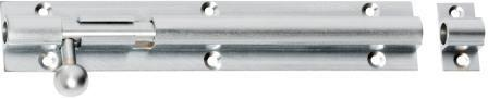 Tradco 'BARREL BOLT' Satin Chrome 1425 150mm X 25mm