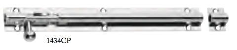 Tradco 'BARREL BOLT' Chrome Plate 1434 200mm X 25mm
