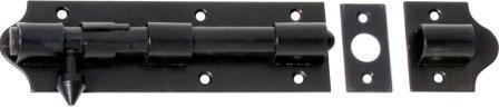 Tradco 'BARREL BOLT IRON' Matt Black 1435 215mm x 48mm