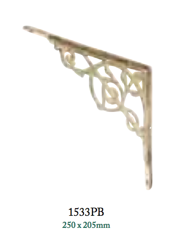 Tradco 'BRACKET-MEDIUM' Polished Brass 1533 250mm x 205mm