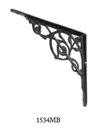 Tradco 'BRACKET-MEDIUM' Matt Black 1534 250mm x 205mm 1534