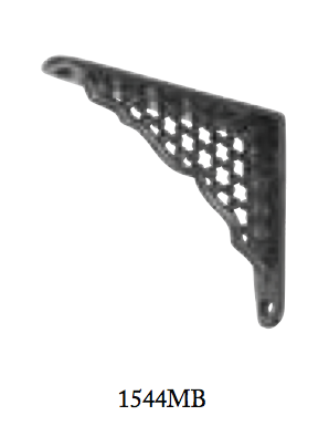 Tradco 'SHELF BRACKET-SMALL' Cast Iron Matt Black 1544 100mm x 800mm