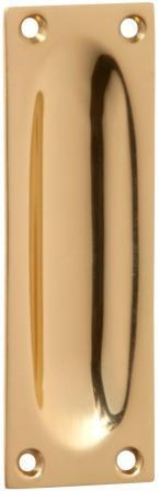 Tradco 'FLUSH PULL' Polished Brass 1568 88mm x 28mm