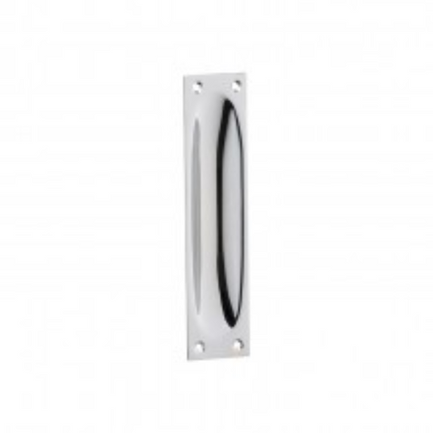 Tradco 'FLUSH PULL CLASSIC' Large Chrome Plate H140mm x W32mm x DE8mm 1589