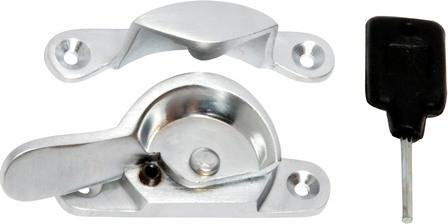 Tradco 'LOCKING FITCH FASTENER' Satin Chrome 1619 69mm x 17/15mm