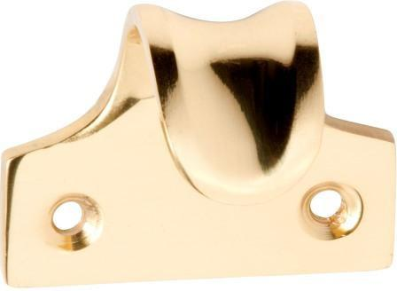 Tradco 'SASH LIFT DISHED' Polished Brass 1637 45mm x 38mm
