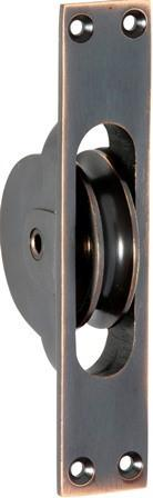 Tradco 'SASH PULLEY' Antique Copper 1681 25mm x 125mm