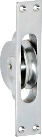 Tradco 'SASH PULLEY' Satin Chrome 1683 25mm x 125mm