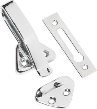 Tradco 'HOPPER WINDOW FASTENER' Chrome Plate 1687 74mm x 39mm