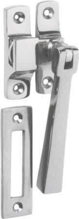 Tradco 'CASEMENT FASTENER-SQUARE' Satin Chrome 95mm x 35mm1693