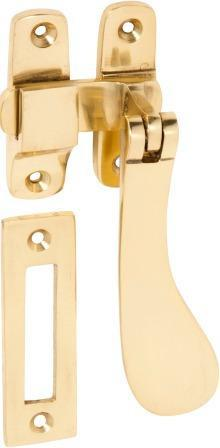 Tradco 'CASEMENT FASTENER-DISHED' Polished Brass 1733 105mm x 30mm