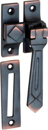 Tradco 'CASEMENT FASTENER-DECO' Antique Copper 1748 85mm x 30mm