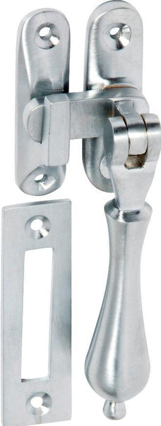 Tradco 'CASEMENT FASTENER-TEARDROP' Satin Chrome 95mm x 25mm 1753