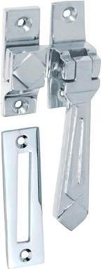 Tradco 'CASEMENT FASTENER-DECO' Chrome Plate 1754 85mm x 30mm