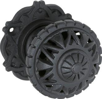 Tradco 'FILIGREE' IRON MORTICE KNOB Antique Finish 66mm 1845