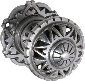 Tradco 'FILIGREE' IRON MORTICE KNOB Polished Metal 66mm 1846