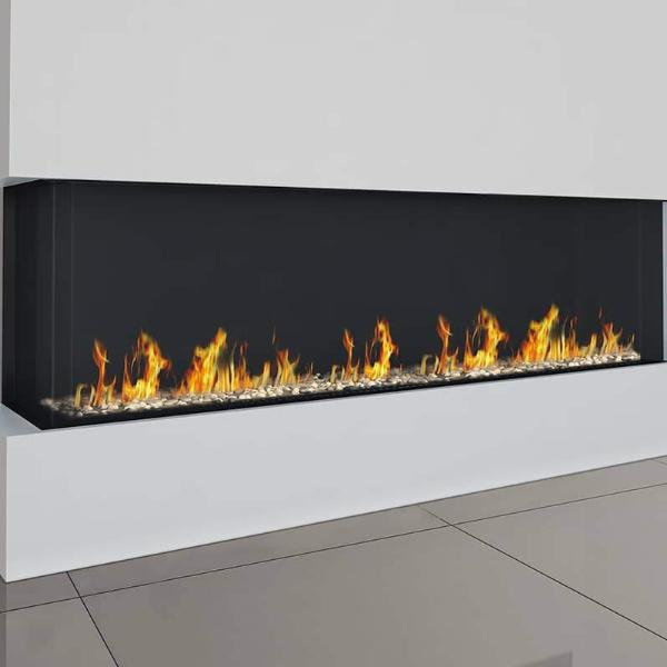 Ortal Corner Clear 200H Right/Left Side Gas Fireplace