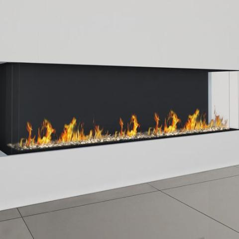 Ortal Three Sided Clear 150H TS Gas Fireplace