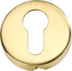 Tradco 'SHEET BRASS' EURO ESCUTCHEONS Polished Brass 50mm 2040