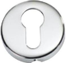 Tradco 'SHEET BRASS' EURO ESCUTCHEON Chrome Plate 50mm 2042