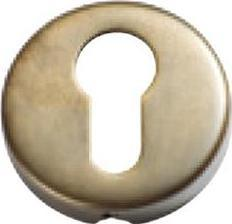 Tradco 'SHEET BRASS' EURO ESCUTCHEON Antique Brass 50mm 2044