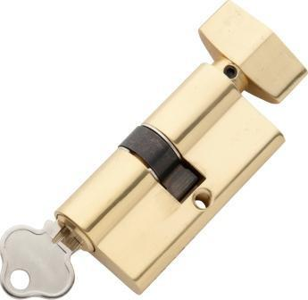 Tradco 'KEY/THUMB TURN' SOLID BRASS C4 5 PIN EURO CYLINDER Polished Brass 60mm 2050