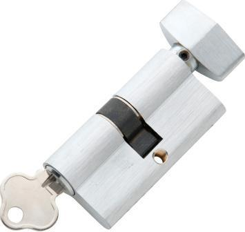 Tradco 'KEY/THUMB TURN' SOLID BRASS C4 5 PIN EURO CYLINDER Satin Chrome 60mm 2053