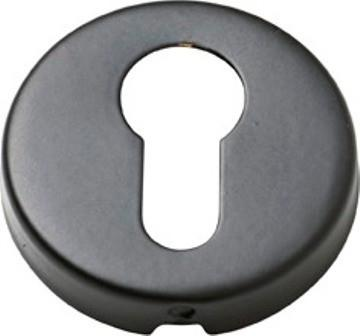 Tradco 'SHEET BRASS' EURO ESCUTCHEON Matt Black 50mm 2057