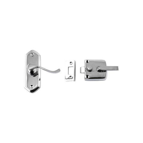 Tradco 'SCREEN DOOR LATCH' RIGHT HAND EXTERNAL LEVER Chrome Plate 38 x 198mm 2063
