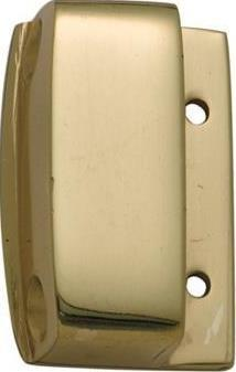 Tradco 'SCREEN DOOR BOX KEEPER' Polished Brass W28 H43mm 2065