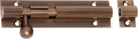 Tradco 'BARREL BOLT' Antique Brass 2321 100mm x 25mm