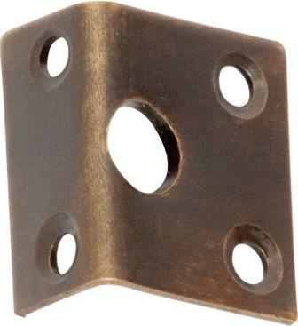 Tradco 'RIGHT ANGLE KEEPER' Antique Brass 2327