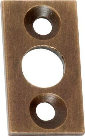 Tradco 'PLATE KEEPER' Antique Brass 2328 13mm X 25mm