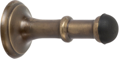 Tradco 'CONCEALED DOOR STOP' Antique Brass 80mm 2351