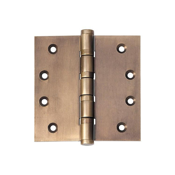 Tradco 'HINGE - BALL BEARING' Antique Brass 2364 100mm x 100mm