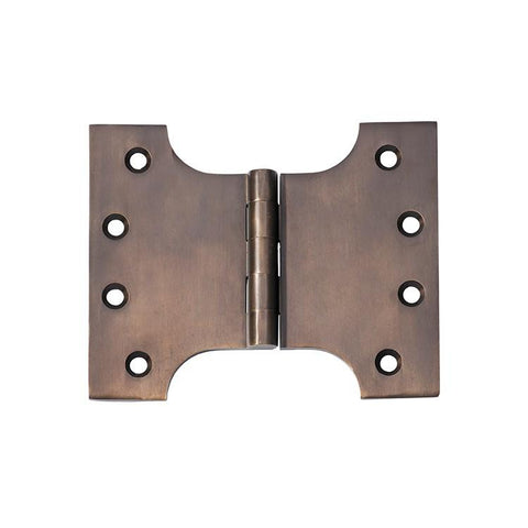 Tradco 'HINGE - PARLIAMENT' Antique Brass 2381 100mm x 125mm