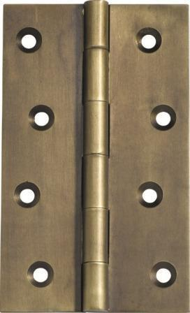 Tradco 'HINGE - FIXED PIN' Antique Brass 2372 100mm x 60mm