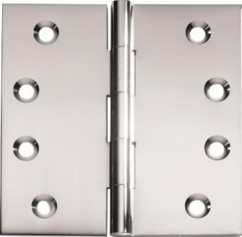 Tradco 'HINGE - FIXED PIN' Satin Chrome 2774 100mm x 100mm