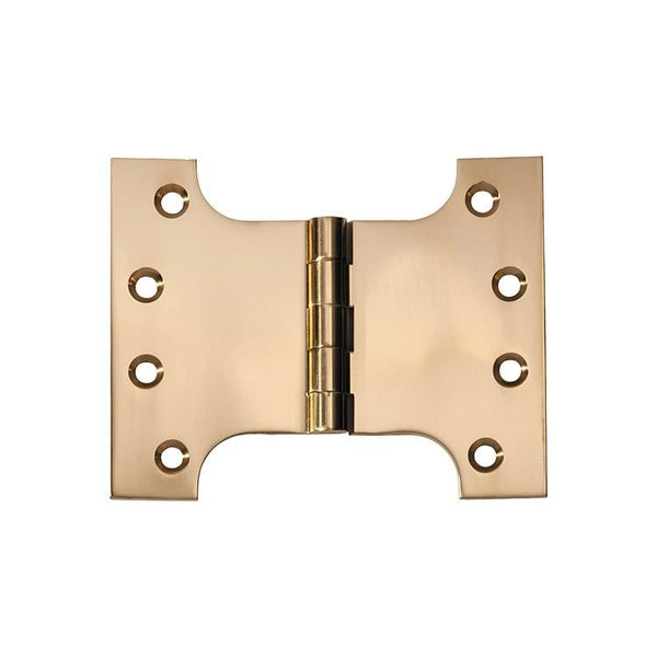 Tradco 'HINGE - PARLIAMENT' Polished Brass 2481 100mm x 125mm