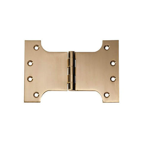 Tradco 'HINGE - PARLIAMENT' Polished Brass 2482 100mm x 150mm