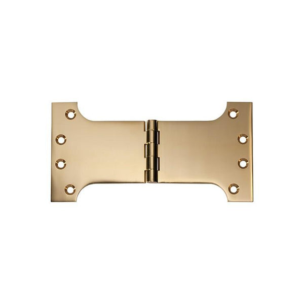 Tradco 'HINGE - PARLIAMENT' Polished Brass 2484 100mm x 200mm