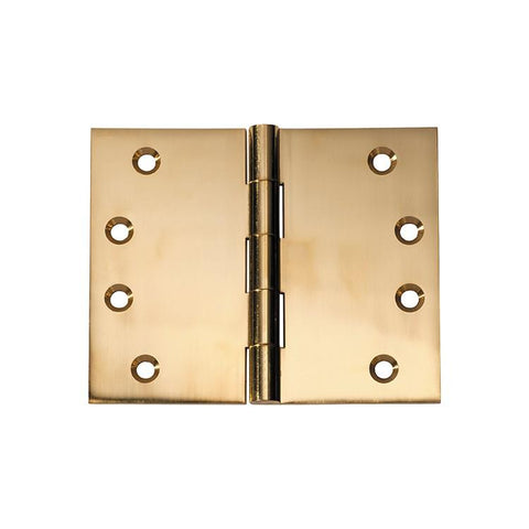 Tradco 'HINGE - BROAD BUTT' Polished Brass 2490 100mm x 125mm
