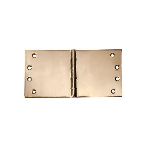 Tradco 'HINGE - BROAD BUTT' Polished Brass 2493 100mm x 200mm