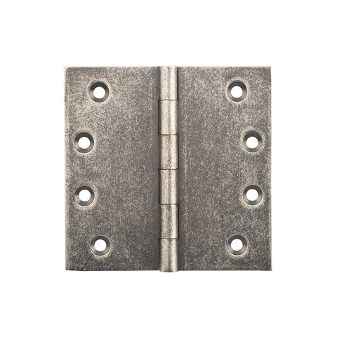 Tradco Hinge Fixed Pin Rumbled Nickel H100 x W100mm 2524