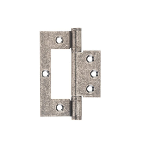 Tradco Hinge Hirline Rumbled Nickel H100 x W49mm 2547