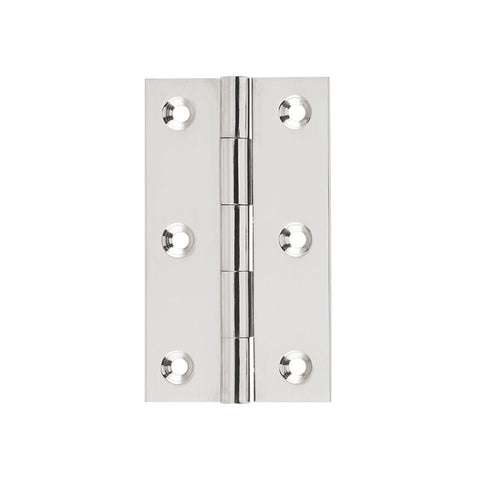 Tradco Hinge Fixed Pin Polished Nickel H89 x W50mm 2620