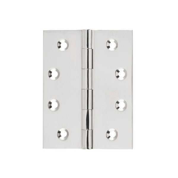 Tradco Hinge Fixed Pin Polished Nickel H100 x W75mm 2623