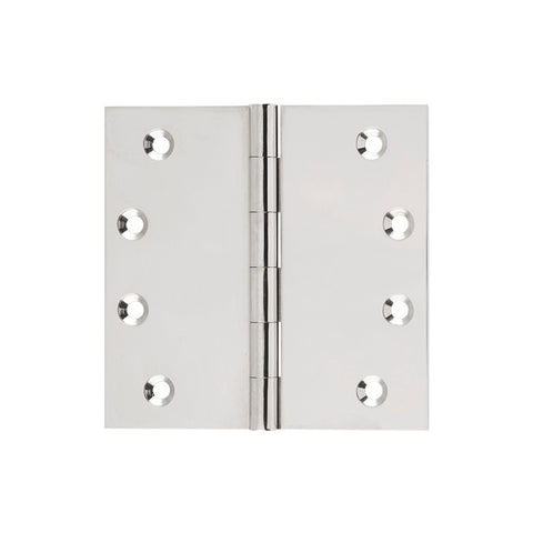 Tradco Hinge Fixed Pin Polished Nickel H100 x W100mm 2624
